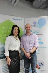Riona Mc Grath and Conor O'Kane (both Travelport)
