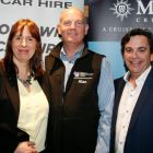 Isabel Harrison and Declan Power (both Shannon Airport) with Alan Lynch (Cruisescapes)