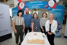 Edel Redmond (Dublin Airport), Paddy Dunne (American Holidays), Blaithin O'Donnell (Air Canada), Michelle Anderson (Sunway Holidays) and Sharon Harney (John Cassidy Travel)