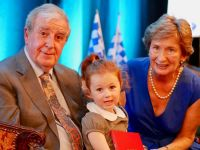 Family man Sean Power pictured with his wife Geraldine and granddaughter
