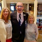 Mary Mc Kenna (Tour America) with Michael English (Celebrity Cruises) and Sharon Harney (Cassidy Travel).