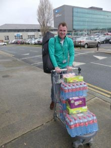Dermot Lee stocking up