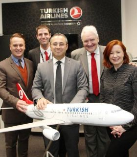 The award winning Turkish Airlines Team with Gerry Benson (Travelbiz)