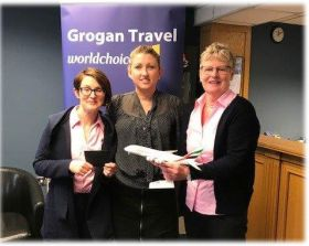 Riona and Frances (Grogan Travel) with Helena Sweeney (Emirates)