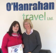 Bonka Dimitrova (O'Hanrahan Travel) with Audrey Headon