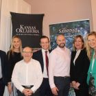 Tony Lane (Executive Director Visit USA Committee), Rebecca Crannis (Greater Palm Springs), Matt Bates (Kansas & Oklahoma), Jason Kearns (Hertz), Ben Redmond (GoHop), Jo Piani (Visit Savannah) and Emily Taylor (Colorado)