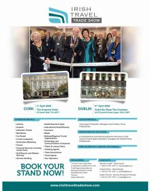 Exhibitor applications now open for the Irish Travel Trade Shows 2020