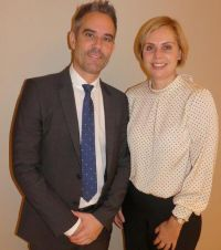 Helen Fyfe (Key Account Manager Ireland and Iceland) with Andreas Koster (Senior Director Sales UK, Ireland & Iceland)
