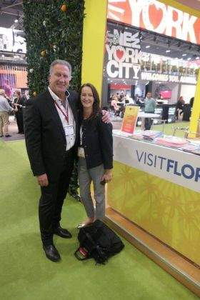 Don Shearer (Travelbiz) with Jenny Rafter (Aer Lingus)