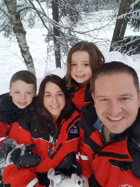 Brian Hynes (The Travel Corporation) with his family up in Romanievi