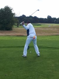 Dermot Merrigan (Irish Ferries) sporting his all-new Shannon Airport golfing apparel at TIGS