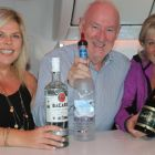 Avril Murgatroyd (Travel Leaders), Declan Mescall (Features Editor Travelbiz) and Carol Anne O'Neill (Worldchoice) checking out the Upperclass bar.