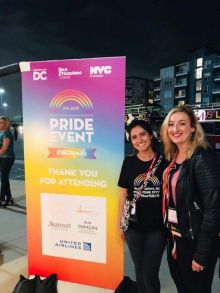 Aoife Gregg Anderson (United Airlines) co-sponsor the IPW Pride event