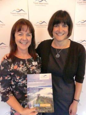 Yvonne Boyle (Commercial Director Travel Department) with Sara Zimmerman (MD Travel Department)