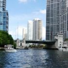 A view of Downtown Miami from the Thriller high speed boat ride
