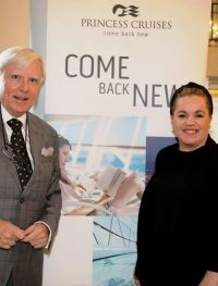 Rebecca Kelly (Princess Cruises) with Francis Brennan.