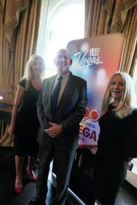 Tryphavana Cross (The Las Vegas Convention & Visitors Authority), Larry Brown (Commissioner and senior board member LVCVA) and Kelly Sawyer  (International Marketing Manager)