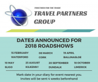 Travel Partners Group On The Road Again With 2018 Roadshows