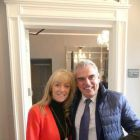 Loraine Cunningham (Lorraine Cunningham Travel) with guest of honour Paul McGinley.