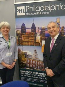 Greg Evans and Julie Greenhill who represent (PHLCVB) in Ireland
