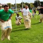 The adult sack race