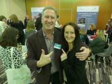 Don Shearer (Travelbiz) and Jenny Rafter (Aer Lingus)