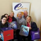 eTravel crew with the Royal Goodie Bags.