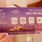"Etihad boarding card doubles as a ""Extraordinary Abu Dhabi Pass"" which gives 20% off Warner Brothers World and Ferrari World, as well as discounts on designer retail, theme parks, tours, excursions, dining, beach entry and spa treatments (check out Etihad's website for details and terms)."