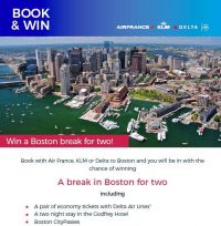 Win with Air France KLM and Delta Air Lines
