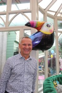 Is that a parrot or a toucan on your shoulder? Volker Lorenz (Chief Operating Officer Canariaways.com)