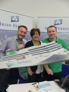 Dermot Merrigan, Marie McCarthy and David O'Connor (All Irish Ferries).
