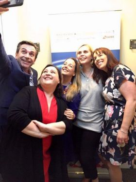 The AJV Team with Declan Power (Shannon Airport) selfie in Limerick.
