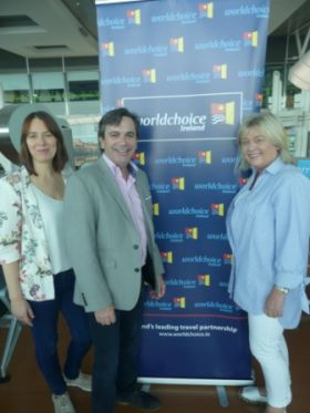 Isabel Harrison & Declan Power (both Shannon Airport) and Carol Anne O'Neill (Worldchoice)