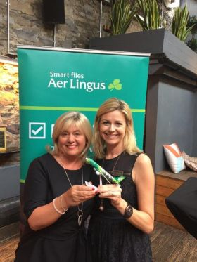 Carol Anne O'Neill (Commercial Manager Worldchoice) with Yvonne Muldoon (Sales Director Aer Lingus)