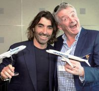 Javier Hidalgo (CEO Globalia Group) and Michael O'Leary (CEO Ryanair)