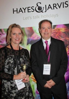 Leslie Rollo (MD Hayes & Jarvis) and John Devereux (MD Travelopia Ireland & Scandinavian)