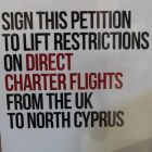 This petition seeking signatures is in every hotel in North Cyprus.