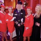 Holly Best and Captain Miles High with the Sunway Atlantic Girls.