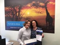 Teresa Murphy (AF / KL / DL Account Manager) with Sonya Walsh (World Travel Centre).