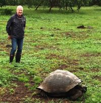Declan Mescall (Features Editor Travelbiz) gets up close and personal with a giant tortoise