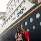 Alice Carrick and Eimear Martin (Tour America) disembark their Magical experience onboard
