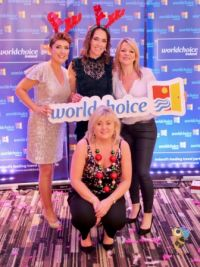Carol Anne O'Neill (Worldchoice) with the Fahy Travel ladies