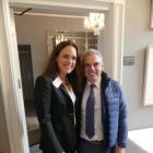 Guest of honour Paul McGinley, and Gwénaëlle Maret-Delo (Managing Director Atout France UK & Ireland)
