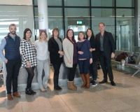 The winners depart for Washington DC in Dublin Airport T1