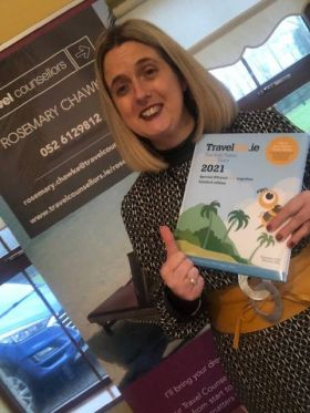 Gold Travel Counsellor Rosemary Chawke Loves her all new 2021 Travelbiz Desktop Diary