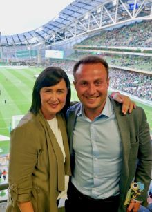 Edel Redmond and Andrew White (Dublin Airport)
