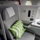 The all new business class seats on Finnair's A350