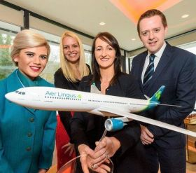 Aer Lingus crew member Gigi with Sandra Milovconic (Dubrovnik), Jenny Rafter (Aer Lingus) and Brian Gallaher from Cork Airport.