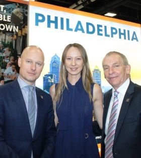 Mark White, Svetlana Yazovskikh and Greg Evans (Philadelphia CVB)