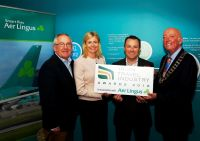 Pat Dawson (CEO ITAA) Yvonne Muldoon (Director of Sales Aer Lingus) Paul Muldoon (Advertising Manager INM) and Cormac Meehan (ITAA President)